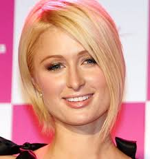 parisian bob hairstyle paris hilton elegant blonde inverted bob hairstyles weekly