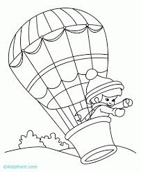 the stylish in addition to lovely air balloon coloring pages