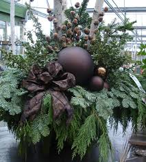 Christmas Decorations For Outdoor Containers by 510 Best Winter Containers Images On Pinterest Christmas