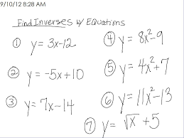 Inverse Functions Worksheet Answers Relations Functions U2013 Room 148 Pam Wilson