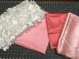 satin fabric pink satin fabric white feather fabric silky