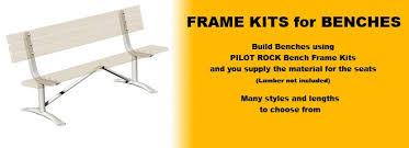 Metal Deck Bench Brackets - benches frame kits only series pilot rock