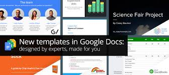 Google Spreadsheets App G Suite Updates Blog New Templates In Google Docs Designed By