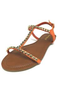 bamboo studded t strap sandal from california by that u0027s cherry
