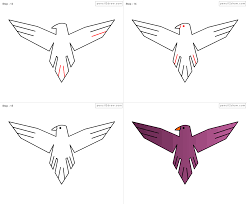 eagle drawings for kids