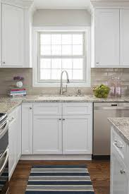 kitchen subway backsplash plain white ceramic subway tile backsplash minimalist