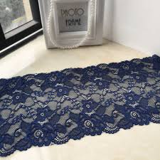 navy lace ribbon 19cm wide navy blue lace handmade patchwork material hot lace