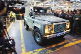 matchbox land rover 90 last land rover defender rolls off the production line by car magazine