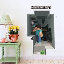New Home Decoration Game Minecraft 3d Wall Stickers Picture More Detailed Picture About
