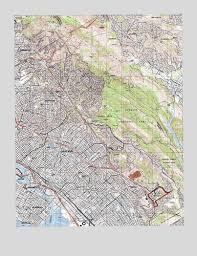 map of oakland oakland east ca topographic map topoquest