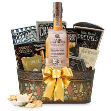 cigar gift basket bourbon gift basket