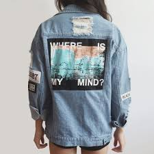 Light Denim Jacket Where Is My Mind Denim Jacket Light Blue Megoosta Fashion
