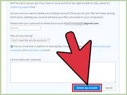 how to cancel a dropbox account with pictures wikihow