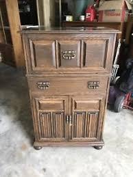 Oak Bar Cabinet Ethan Allen Royal Charter Oak 220 Vintage Bar Cabinet Ebay