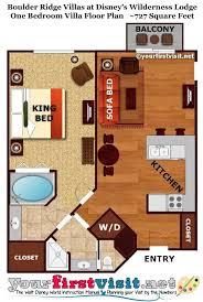 disney world floor plans disney wilderness lodge 1 bedroom villa floor plan glif org