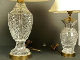 waterford lamp shades crystal table lamps both have bras