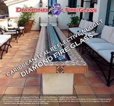 Glass Fire Pit Table Caribbean Teal Reflective Nugget Diamond Fire Pit Glass U2013 Fire Pit