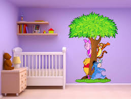 stickers chambre bébé arbre stickers arbre winnie l ourson 15211 stickers muraux enfant