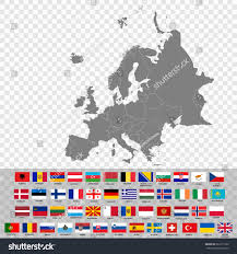 Map Of Europe With Countries by High Quality Map Europe Borders Countries Stock Vector 663115132
