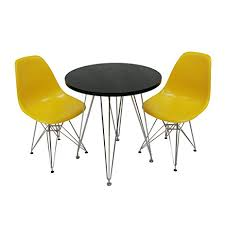 Yellow Bistro Chairs Mod Made Mid Century Modern 3 Tower