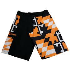Mens Flag Shorts Baltimore Orioles Black U0026 Orange Maryland Flag Board Shorts