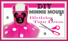 Minnie Mouse Halloween Birthday Party by How To Make A Minnie Mouse Birthday Party Tutu Dress Diy Tutu