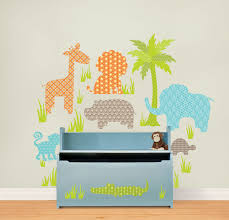 100 teal wall stickers wall stickers funky vinyl wall jungle friends wall art sticker kit