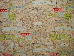 Chelsea Map London Map Designer Cotton Curtain Upholstery Crafts Quilting