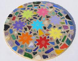 mosaic lazy susan etsy