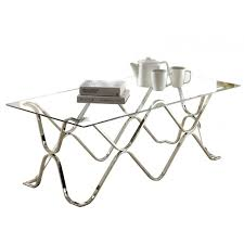 Chrome And Glass Coffee Table Pomona Chrome Glass Coffee Table