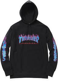 supreme supreme thrasher hoodie black size m sweatshirts