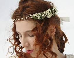 hippie flower headbands hippie flower crown etsy