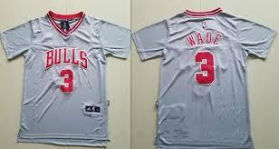 men u0027s chicago bulls 3 dwyane wade gray short sleeved stitched nba