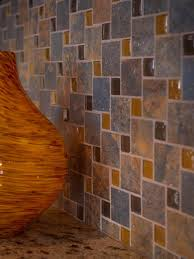 Glass Tile For Kitchen Backsplash Slate Tile Backsplash Traditional Tile Cleveland By Al2650 Glass