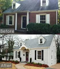 incredible decoration brick house exterior makeover best 25 cape