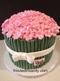 birthday flower cake frosted insanity 94th birthday flower cake