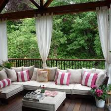 Black Outdoor Curtains Black And White Striped Outdoor Curtains Design Ideas