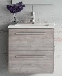 Grey Vanity Unit 50 Sandy Grey Wall Hung Vanity Unit And Mirror Pack