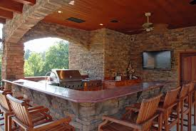 outdoor kitchen designs with uncovered and covered style helping