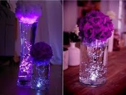 centre de table mariage pas cher diy des vases lumineux en centre de table par mariage promo