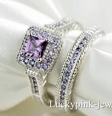 Amethyst Wedding Rings by White Gold Filled Amethyst Wedding Ring Engagement Rings And