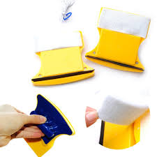 2 pads yellow blue magnetic window wizard double sided glass