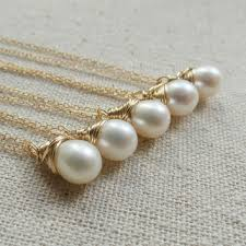 bridesmaid jewelry gifts wedding jewelry set of five pearl from otisbweddings on etsy