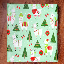 wrapping paper christmas llama christmas wrapping paper gift wrap 10 ft x 2