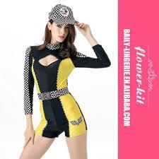 Halloween Costume Race Car Driver Halloween Cosplay Black Yellow Race Car Driver Speed Racer