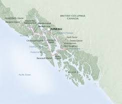 Alaska Air Route Map by Itinerary Map Images Uncruise Adventures