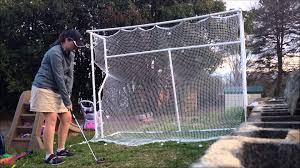 my homemade golf net driving range youtube