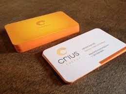 cool orange business cards cardobserver