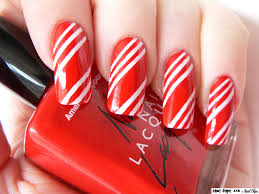 blue tape and nail tips candy cane lane
