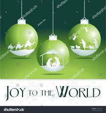 world nativity tree ornaments stock vector 346301819